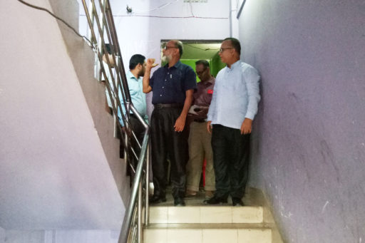 06. Honourable Directors inspect the hostel's rooms with their team