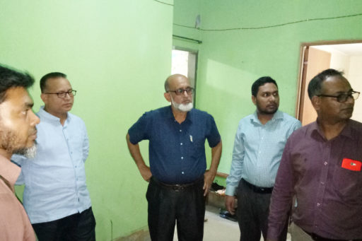 08. Honourable Directors inspect the hostel's Water Purifier with their team