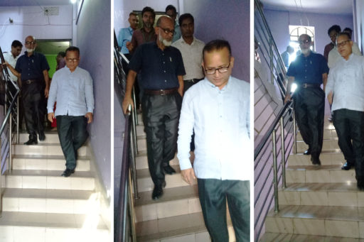 11. Honourable Directors inspect the hostels with their team