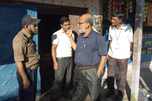 12. Honourable Director Md. Golam Mosharof Hossain evaluate the hostel's facility with the team