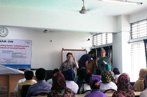 Dr. Leendert Van Rijn  and Dr. Lida Van Rijn presented their research on mental health in the region of Rangpur