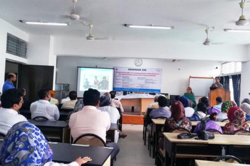 Dr. Leendert Van Rijn  with Dr. Lida Van Rijn start their presentation on mental health in the region of Rangpur