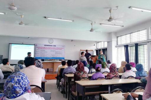 Dr. Lida Van Rijn with Dr. Leendert Van Rijn presented their research on mental health in the region of Rangpur