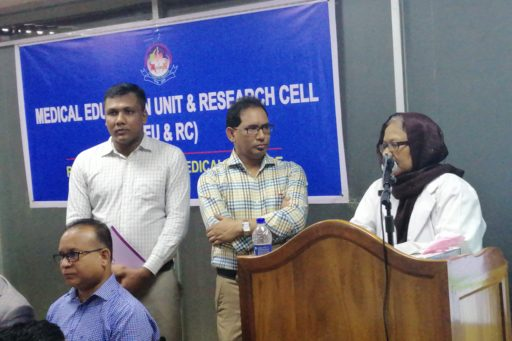 Chair Person: Principal Prof. Dr. Afruza Bulbul Akhtar; Rangpur Community Medical College & Hospital spoke at the event