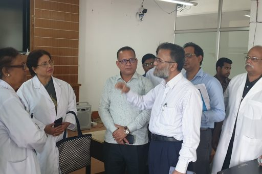 Prof. Dr. Masum Habib visited and discussed about the efficient use of the learning centre in any medical college.