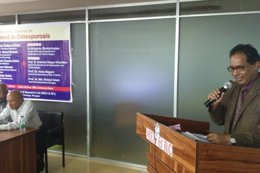 Prof. Dr. Md. Abdur Rahim spoke at the Seminar on Don't Bend to Osteoporosis