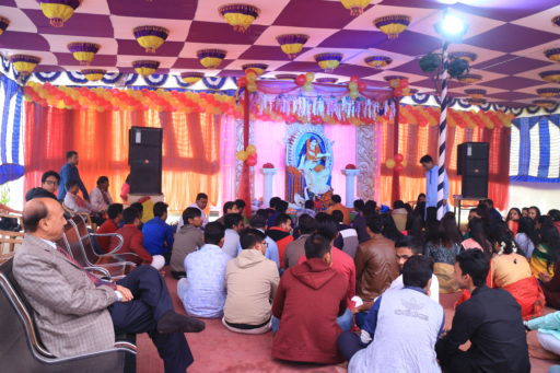 The ceremony to celebrate Saraswati Puja, 2020 at RCMC&H Campus (1)