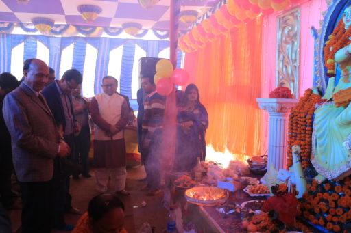 The ceremony to celebrate Saraswati Puja, 2020 at RCMC&H Campus (5)