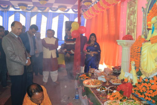 The ceremony to celebrate Saraswati Puja, 2020 at RCMC&H Campus (6)