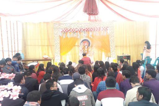 The ceremony to celebrate Saraswati Puja, 2020 at RDC&H Campus (10)