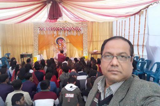 The ceremony to celebrate Saraswati Puja, 2020 at RDC&H Campus (11)