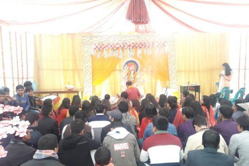 The ceremony to celebrate Saraswati Puja, 2020 at RDC&H Campus (12)