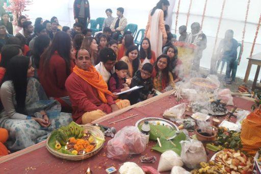 The ceremony to celebrate Saraswati Puja, 2020 at RDC&H Campus (2)
