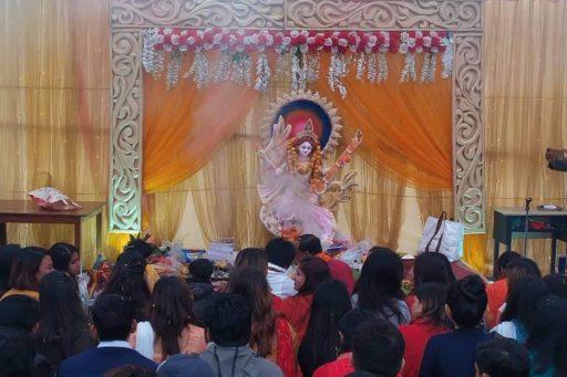 The ceremony to celebrate Saraswati Puja, 2020 at RDC&H Campus (4)