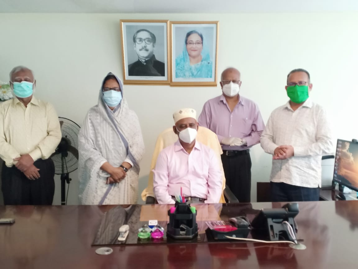 The Principal's office room of RCMC is shined by the presence of both Ex and New Principal