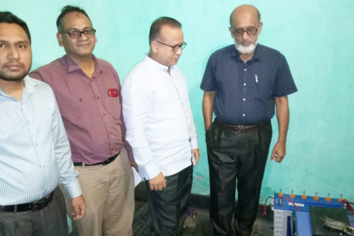 04. Honourable Directors inspect the hostel's IPS with their team