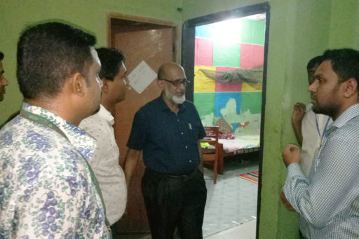 07. Honourable Directors inspect the hostel's rooms with their team