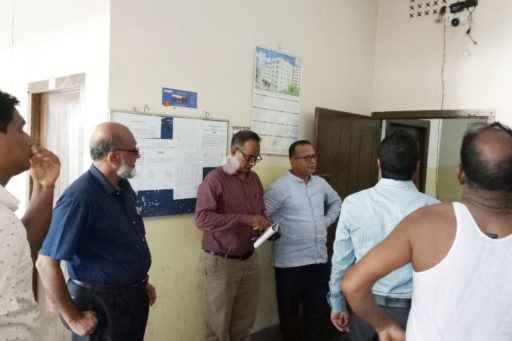 13. Honourable Directors are evaluating the development of the Atika hostel's Facility with their team