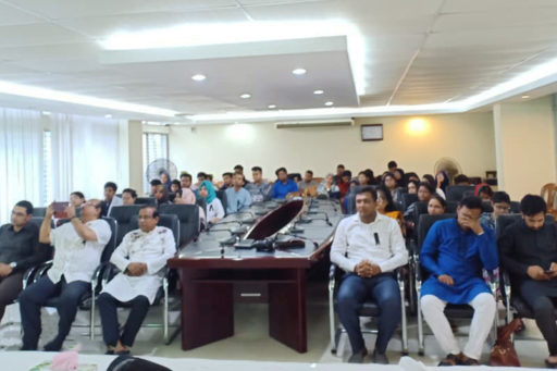 All faculty members, students, doctors, Officers and Employees were present at that time at RCMC Academic Building