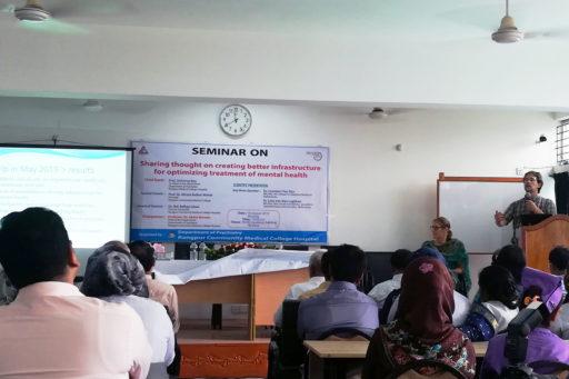 Dr. Leendert Van Rijn with Dr. Lida Van Rijn presented their research on mental health in the region of Rangpur