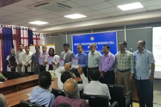 Honourable Guests who presented the inauguration of MEU & RC at RCMC received the copies of RCMC journal which successfully achieved BMDC and ISSN Recognition.