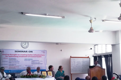 Prof. Jotirmoy Roy spoke at the event on the patients' mental health care in Rangpur