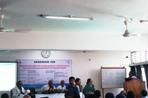 Prof. Jotirmoy Roy spoke at the event on the situation of mental health care in Rangpur