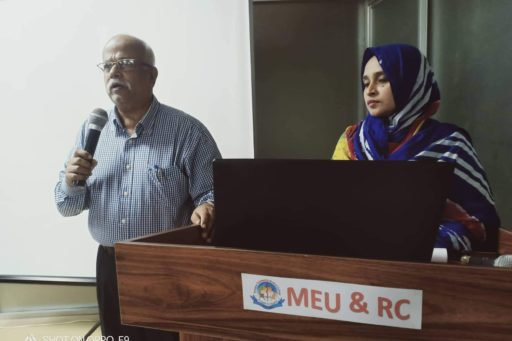 Our Vice principal of RCMC spoke on Blood Culture