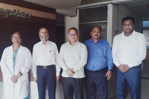 , Our honourable Professor Dr Masum Habib, Vice-Chancellor of Rajshahi Medical University, participated in an exchange meeting with all teachers from every level of our medical college following the pre-scheduled time at Rangpur Community Medical College.