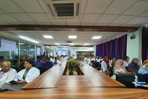 Vice-chancellor of RMU spoke in the meeting to inform the functioning of the newly constituted nine faculties of Rajshahi Medical University.