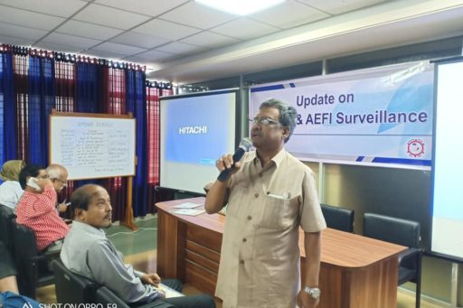 Seminar on: Update on EPI, VPD & AEFI Surveillance Jointly organised by WHO & Community Medicine Department of Rangpur Community Medical College at MEU & RC of RCMC.