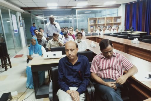The Professors attended in the seminar on blood culture