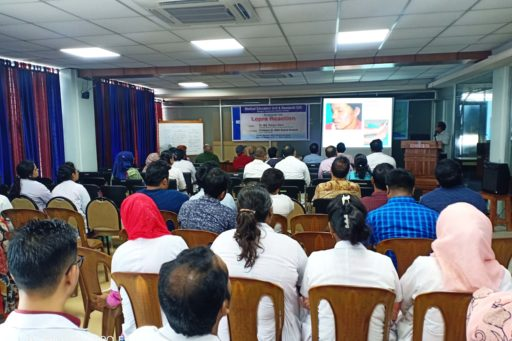 Asso. Prof. Dr. Md. Rezaul Alam presented the important chapters on the lepra reactions at Seminar organized at MEU & RC in RCMC.