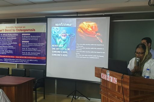 Principal of RCMC spoke at the Seminar on Don't Bend to Osteoporosis