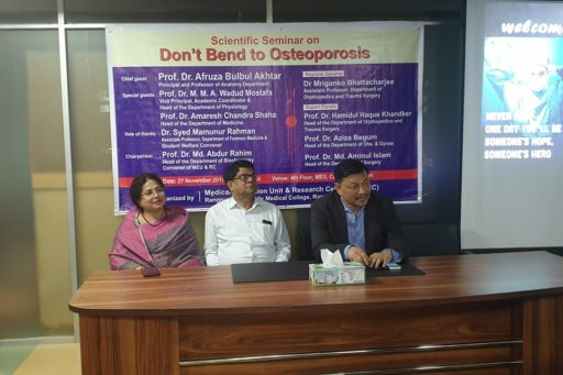 The Q&A session for the Seminar on Don't Bend to Osteoporosis