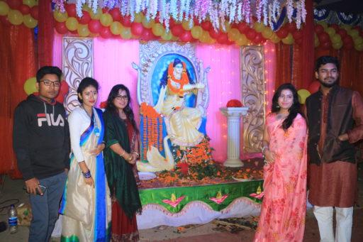 The ceremony to celebrate Saraswati Puja, 2020 at RCMC&H Campus (11)