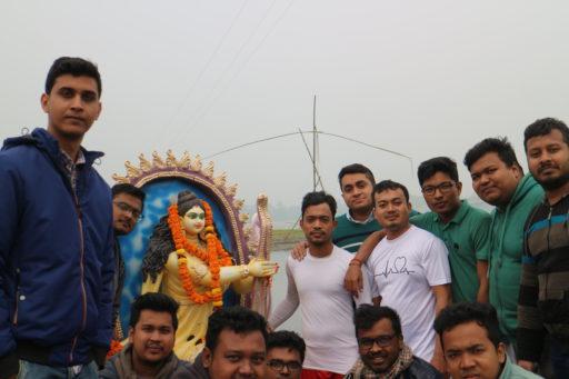 The ceremony to celebrate Saraswati Puja, 2020 at RCMC&H Campus (13)