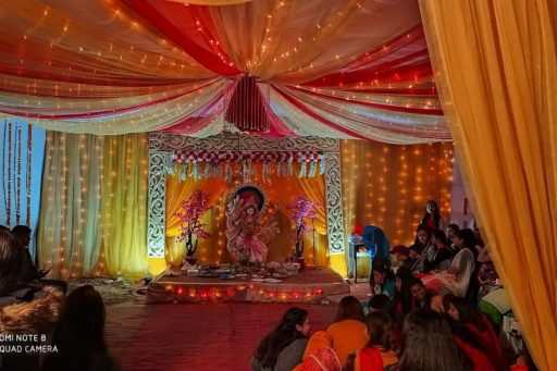 The ceremony to celebrate Saraswati Puja, 2020 at RDC&H Campus (1)