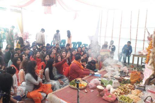 The ceremony to celebrate Saraswati Puja, 2020 at RDC&H Campus (3)