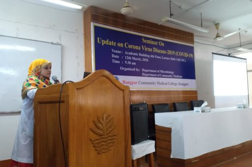 The Seminar on corona virus outbreak at Lecture Hall in RCMC Academic Building (7)
